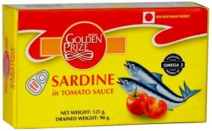 Golden Prize Sardine In Tomato Sauce 125 Gms Each - Pack Of 3 Units (code - 8852111028372-1)