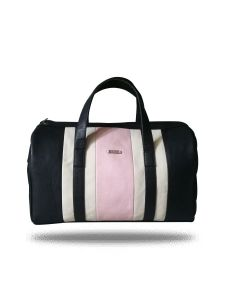 Pink And Black Duffel Bag By Strutt (Code -SMD151)