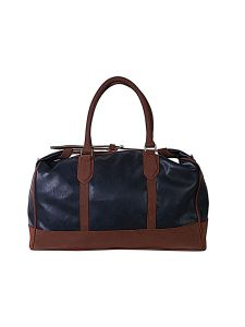 Top Tie Blue And Brown Duffel Bag By Strutt (Code -SMD512)