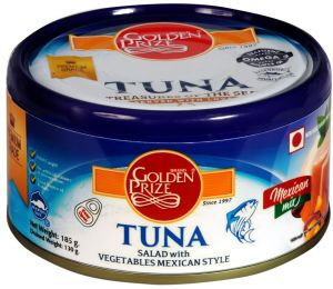 Golden Prize Tuna Salad With Vegetables Mexican Style 185gms Each - Pack Of 2 Units (code - 8855301210427-1)