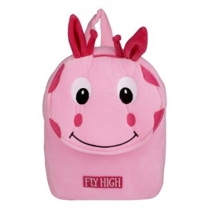 School Bags - Velboa School Bag - Pink  By Lovely Toys (Code -VB03)