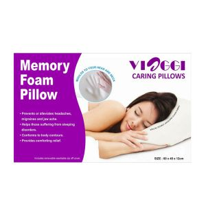 Viaggi Memory Foam Sleeping Pillow - White