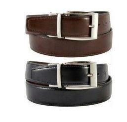 Nau Nidh Reversible Buckle Formal Italian Leather Belt Black And Brown