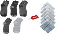 Pure Cotton Ankle Socks And Hanky Set Combo
