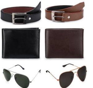 Combo Offer 2 Belts 2wallets 2sunglasses
