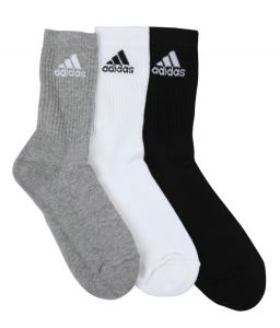 ADIDAS PERFORMANCE CREW FULL LENGTH SOCKS  SOFT, COMFORTABLE OFFICIAL, CASUAL SOCKS FOR DAILY WORKOUTS.