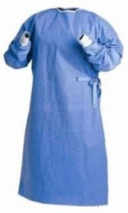Personal Corona Protection Gown For Hospital And Saloon With 5 Disposable Masks
