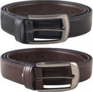 Shoppingtara Casual Formal Leather Belts For Men Combo Of 2