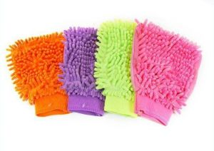 Kitchen cleaning equipments - Set Of 4 Multi Purpose Micro Fiber Washing Gloves