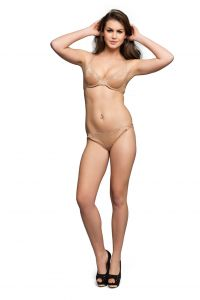 Cloe Bra And Panty Set -  Lace Underwired Bra With Lace Panty In Nude Code - (Bp0153C24)
