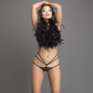 Low Waist Designer Lace Bikini With Strings By Clovia (Code - PN1267P13)