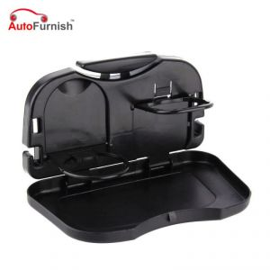 Autofurnish Automobile Car Meal Plate Drink Cup Holder Tray