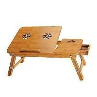 Millennium Wooden Laptop E   Table With 2 Fan For Study Reading Bed  Portable_t4ls18