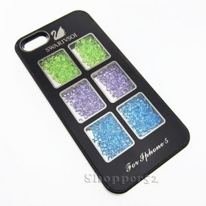 Designer With Diamond Back Hard Shell Cover Case For IPhone 5