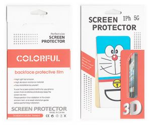 Designer Front And Back Screen Protector Skin For Apple iPhone 5 Scr501
