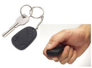 Security, Surveillance Equipment - Spy Car Key Chain Hidden Camera Car Keychain