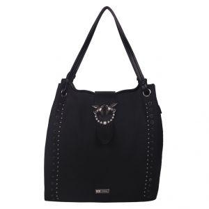 ESBEDA Black Solid PU Synthetic Totebag For Womens (Code - 4214 Black)   Black