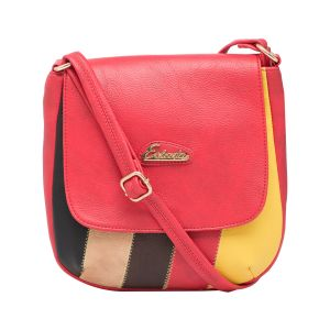 ESBEDA Red Color Solid Pu Synthetic Material Slingbag_1757  For Women