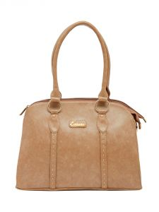 ESBEDA Beige Color Solid Pu Synthetic Material Handbag For Women-1866