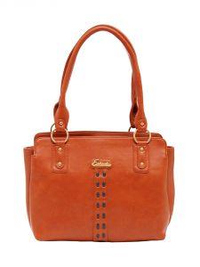 ESBEDA Tan Color Solid Pu Synthetic Material Handbag For Women-1873