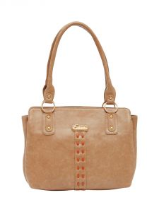 ESBEDA Beige Color Solid Pu Synthetic Material Handbag For Women-1874