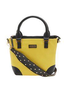 ESBEDA Yellow Color Solid Pu Synthetic Material Handbag For Women-1892