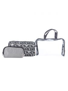 ESBEDA Black Printed Pu Synthetic Material Travelling Kit For Women(Code-2221)