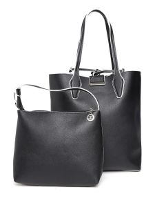 Esbeda Black Solid Pu Synthetic Totebag With Pouch For Womens( Code-2482)