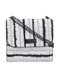 ESBEDA White & Black Self Design PU Synthetic Slingbag For Women(Code-3405)