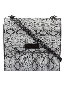 ESBEDA White & Black Snake Work PU Synthetic Slingbag For Women(Code-3411)