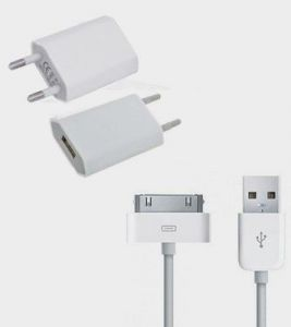 Ags Apple iPhone 4, 4s, 4G Battery Charger (white)