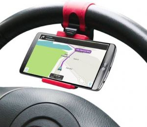 Mobile holders for cars - Technuv Z1 Car Steering Mobile Holder (multicolor)