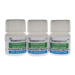 Homyoxpert Tonsillitis (right Side) Homeopathic Medicine For One Month