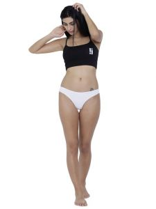 triveni,ag,estoss,lime,bagforever,riti riwaz,sigma,lotto,lew,my pac,la intimo Women's Clothing - White Basiics By La Intimo Women's Spiffy Semiseamless Panty - ( Code -BCPSS01WE0 )
