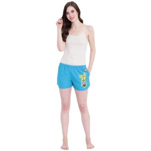 Shorts (Women's) - La Intimo Funk You Royal Blue shorts - ( Code - BOLIF006RB0 )