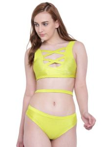 La Intimo Beach Bold Bikini Fluorescent Green Resort/beach Wear - ( Code - Lif2p006lp0 )