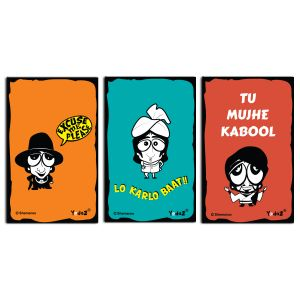 Yedaz Wooden/Mdf Bollywood Kitchen Fridge Magnet Combo Of Caricatures