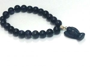 Feng Shui - BLUE GOLD STONE POWER STRETCH BRACELET ( 8 MM )