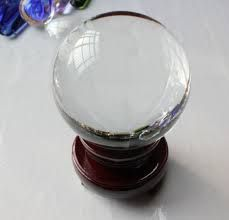 Crystal Ball (fused Quartz) With Wooden Stand Crystal Ball With Stand