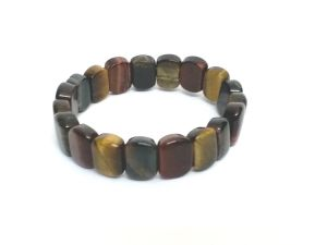 TIGER EYE RED, BLACK AND YELLOW STONE BRACELET ( 10 MM ) A  QUALITY ( CODE TIGERMULTIBR )