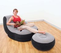 Intex Inflatable Deluxe Lounge Sofa Chair With Footstool