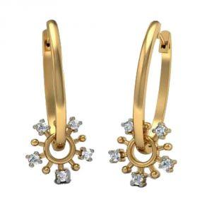 Sheetal Diamonds 0.20TCW New Fashionable Real Round Diamond Earring E0399-10K