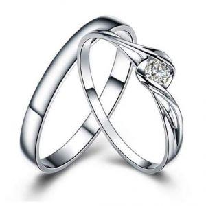 Sheetal Diamonds 0.15TCW Real Round Diamond Couple Matching Anniversary Band R0146-10K