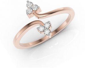 Sheetal Diamonds 0.12TCW Real Rund Diamond Certified Wedding Ring In 14k Rose Gold R0461