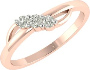 Sheetal Diamonds 0.30TCW New Fashionable Real Round Three Diamond Ring R0468-18K