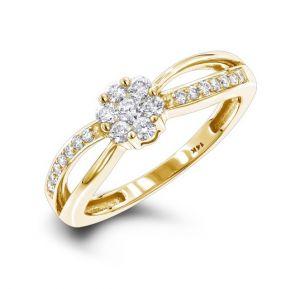 Sheetal Diamonds 0.45TCW Real Round Diamond Party Wear Ring R0629Y-10K