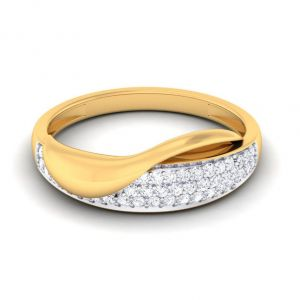 Sheetal Diamonds 0.40TCW Real Round Diamond Certified Wedding Ring In 14k Yellow Gold R0727-14K