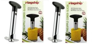Kitchen cutting tools - Omrd Set Of 2 Stainless Steel Easy Pineapple Corer,slicer