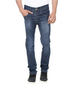 Savon Magnificent Blue Slim Fit Faded Jeans