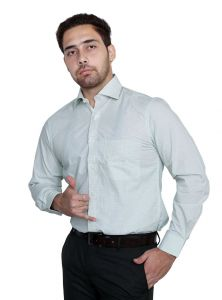 Iq Pure Cotton Green Shirt For Men Inqlgn_3